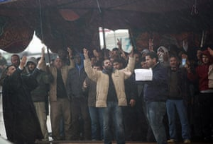 libya unrest: Anti-government demonstrators pray