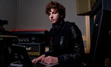 Jamie Smith in the studio