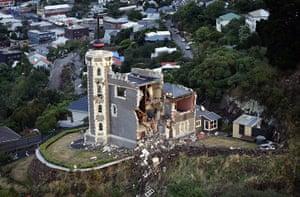 New Zealand Quake: The damage to the iconic Timeball Station building above Lyttelton