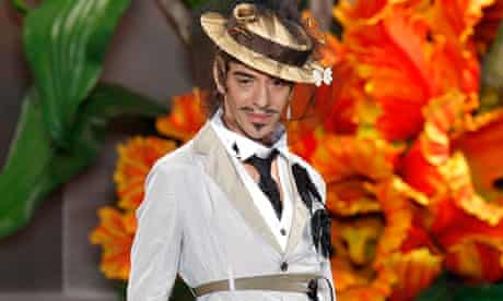 John Galliano at the Dior fashion show