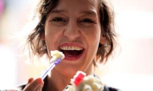 Zoe Williams samples Baby Gaga breast milk ice cream.