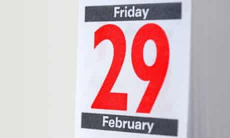 29 February on the calendar