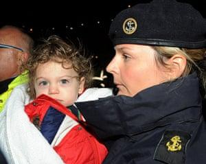 Libya 26 Feb: HMS Cumberland carries evacuees to safety in Malta from Libya