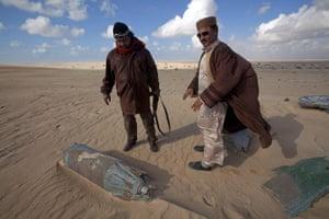 sean smith in libya: plane wreckage outside Bregga