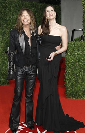 Oscars 2011: afterparties: Musician Steven Tyler with his daughter actress Liv Tyler