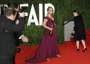 Oscars 2011: afterparties: Portman arrives at the 2011 Vanity Fair Oscar party in West Hollywood