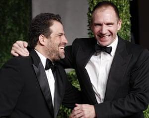 Oscars 2011: afterparties: Filmmaker Brett Ratner and British actor Ralph Fiennes