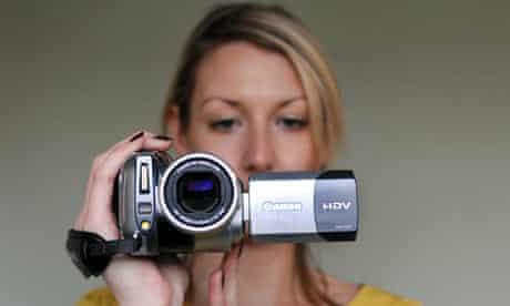 being filmed