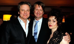 Colin Firth, Tom Hooper and Helena Bonham Carter