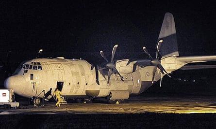 An RAF Hercules aircraft in Malta