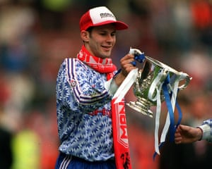 Giggs 20 Years: Ryan Giggs with the Rumbelows Cup after Manchester United beat Forest
