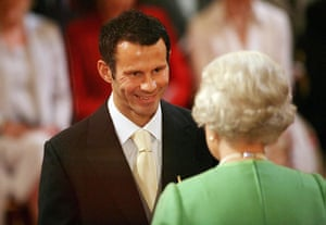 Giggs 20 Years: Manchester United and Wales footballer Ryan Giggs gets OBE