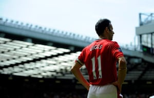 Giggs 20 Years: Ryan Giggs of Manchester United looks on during the game v Spurs