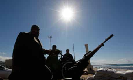 Anti-Gaddafi protesters in Benghazi