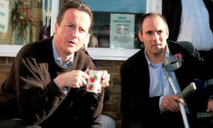 David Cameron visits homeless centre