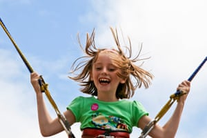 In pictures: play: Erin on high trampoline