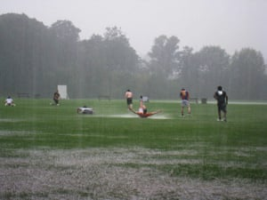 In pictures: play: Rainy sports field