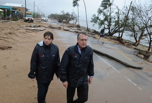 Cyclone Yasi: Queensland Premier Anna Bligh visits Cardwell after cyclone Yasi hit