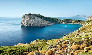 Anthony Quinn Bay on the island of Rhodes in Greece