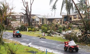 Cyclone Yasi clearup in Tully Heads