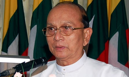 Burmese president, Thein Sein, who was the country's prime minister under military rule
