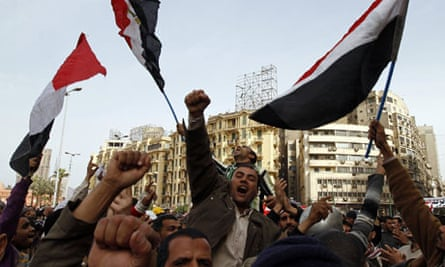 Egyptian anti-government protesters