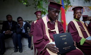 Graduation day for Haitian skilled labourers, July 2010