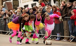 Stilton cheese-rolling competition