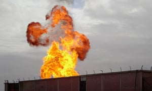 The explosion at a gas terminal in Sinai Peninsula