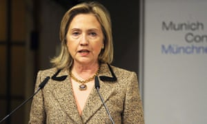 Hillary Clinton addresses the Munich security conference