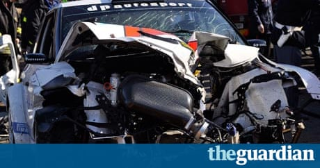 renault driver robert kubica seriously damages arm in collision sport the guardian. Black Bedroom Furniture Sets. Home Design Ideas