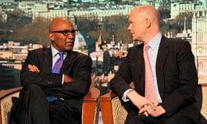 William Hague, Trevor Phillips, Andrew Marr show