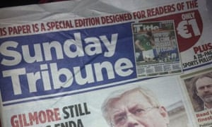 The Irish Mail on Sunday used the rival Sunday Tribune's masthead on its cover