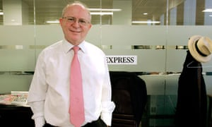 Peter Hill, who is standing down as editor of the Daily Express