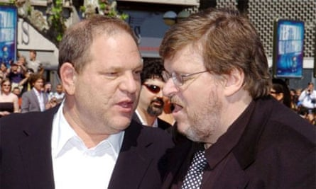 Harvey Weinstein and Michael Moore