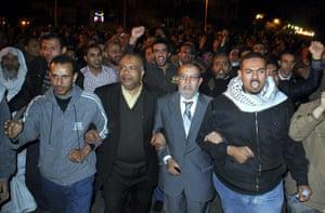 Muslim Brotherhood: Muslim Brotherhood senior members Essam el-Erian and Saad el-Katatni