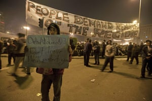 sean smith in egypt: Protestors in Tahrir Square