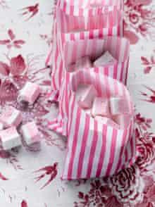 Pink and white vanilla marshmallows