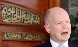 Britain's Foreign Secretary Hague