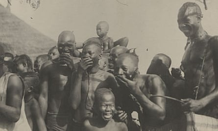 One of the National Archives photos to be loaded on its website, of boys laughing