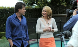Charlie Sheen and ABC's Andrea Canning