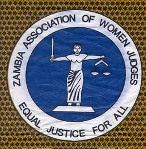 Representing Justice: Decorative cloth with pattern of the High Court's figure Lady Justice