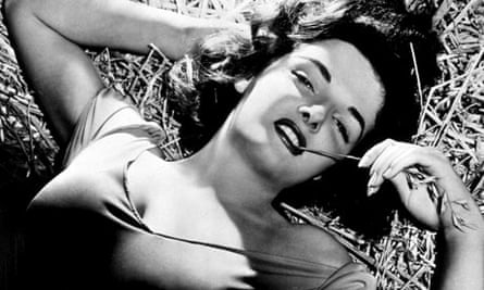 Jane Russell in a publicity shot for The Outlaw