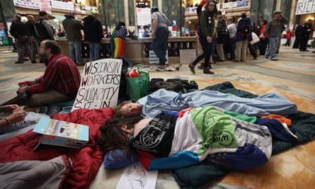Protests Continue As Wisconsin Budget Impasse Drags On