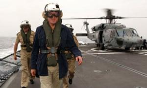 German Defence Minister zu Guttenberg visits frigate 'Hessen'