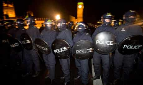 Policing the student protests