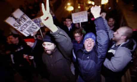 Wisconsin demonstrators