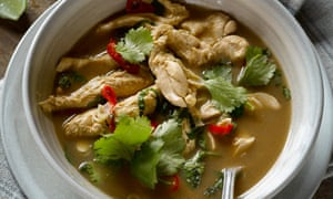Hot and sour tamarind chicken soup