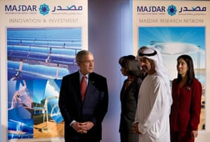 Masdar City: US President George W. Bush takes part i