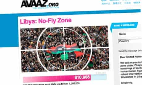 The Avaaz campaign for no-fly zone over Libya